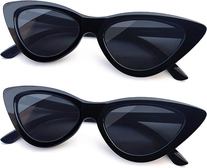 Joopin Polarised Cat Eye Sunglasses for Women, 100% UV Protection Retro Narrow Pointy Cateye Womens Sunglasses Triangle Sunglasses