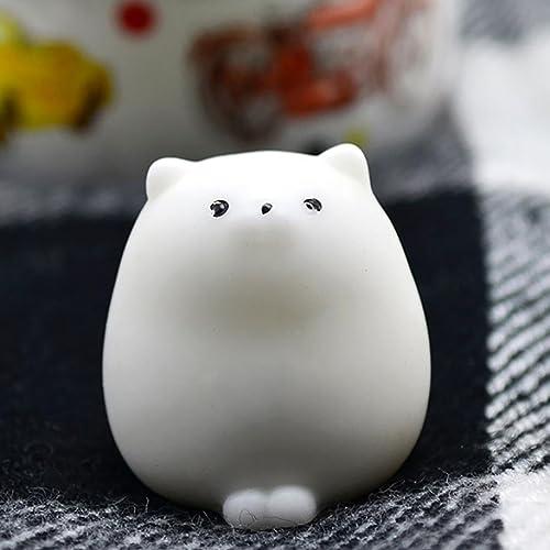 Yoyorule Cute Mini Mochi Squishy Cat Squeeze Healing Fun Kids Kawaii Toy Stress Reliever Slow Rising Hand Wrist Toy E