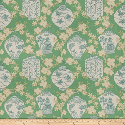 Jaclyn Smith 03710 Peacock Linen Fabric by The Yard (Drapes Smith Jaclyn)