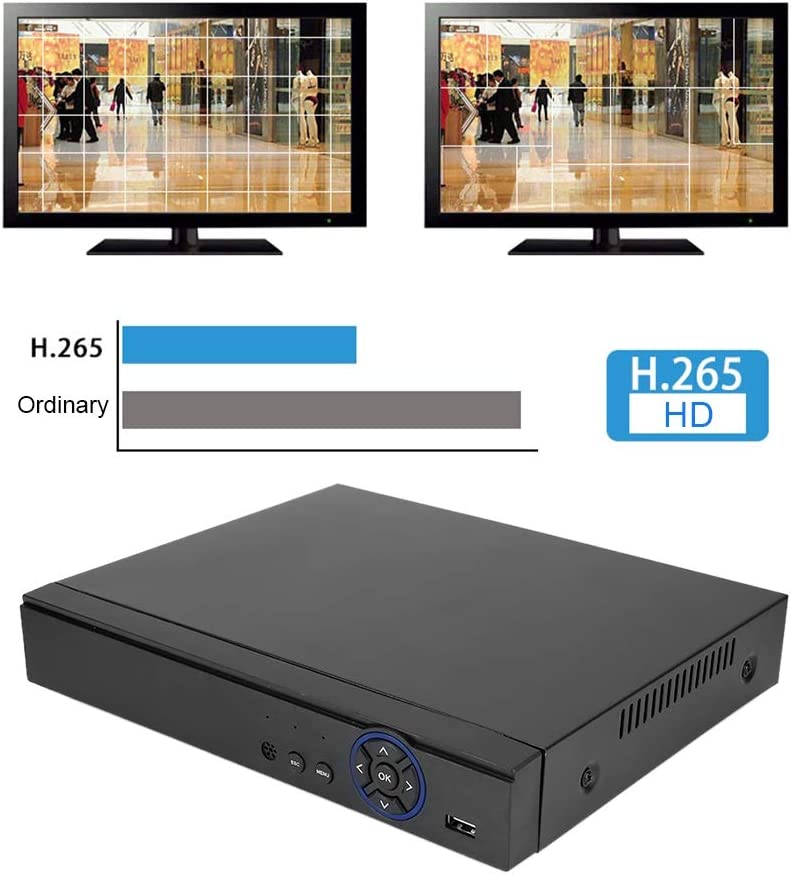 8-Channel Video Recorder 8CH CCTV HD H.265 Net-Harddisk Video Recorder 5MP//4MP//1080P//720P for ONVIF,5-in-1 Real-time Home Surveillance DVR Kits UK