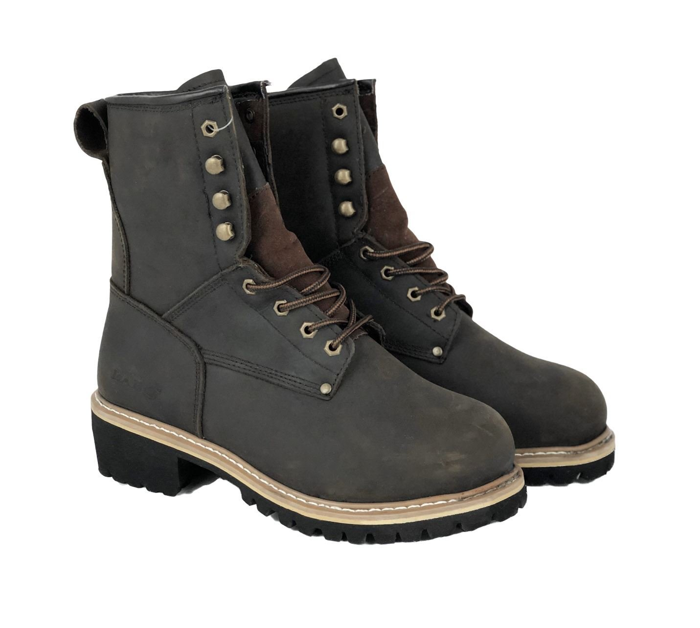 LABO Steel Toed Working Boots - 893S Brown 10