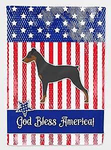 Caroline tesoros del bb3313gf jardín tamaño bandera de Estados Unidos patrióticos alemán Pinscher, multicolor, small