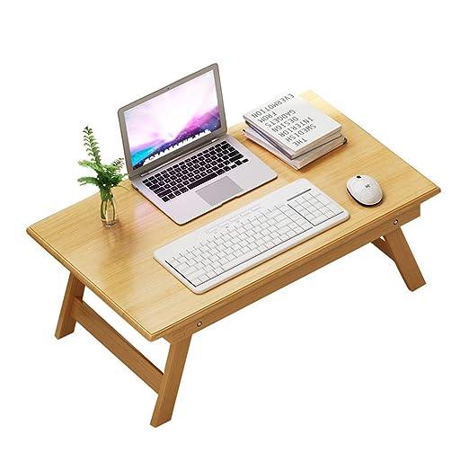 SISIZHANG Escritorio para Ordenador portátil, Mesa de Cama, Mesa ...