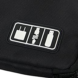 Black Cable Organizer Electronics Accessories Travel Bag USB Drive Bag Healthcare & Grooming Kit