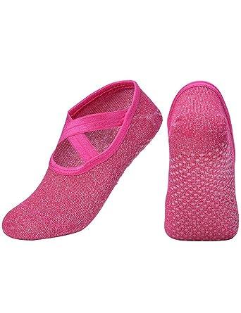 OUNAR Mujeres Yoga Ballet Medias Zapatillas Zapatillas ...