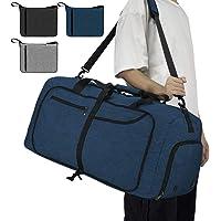 NEWHEY Bolsa de Viaje 40L 65L Plegable Ligera Bolsa Deporte Hombre Impermeable Bolsa Fin de Semana con Compartimento Zapatos para Mujeres