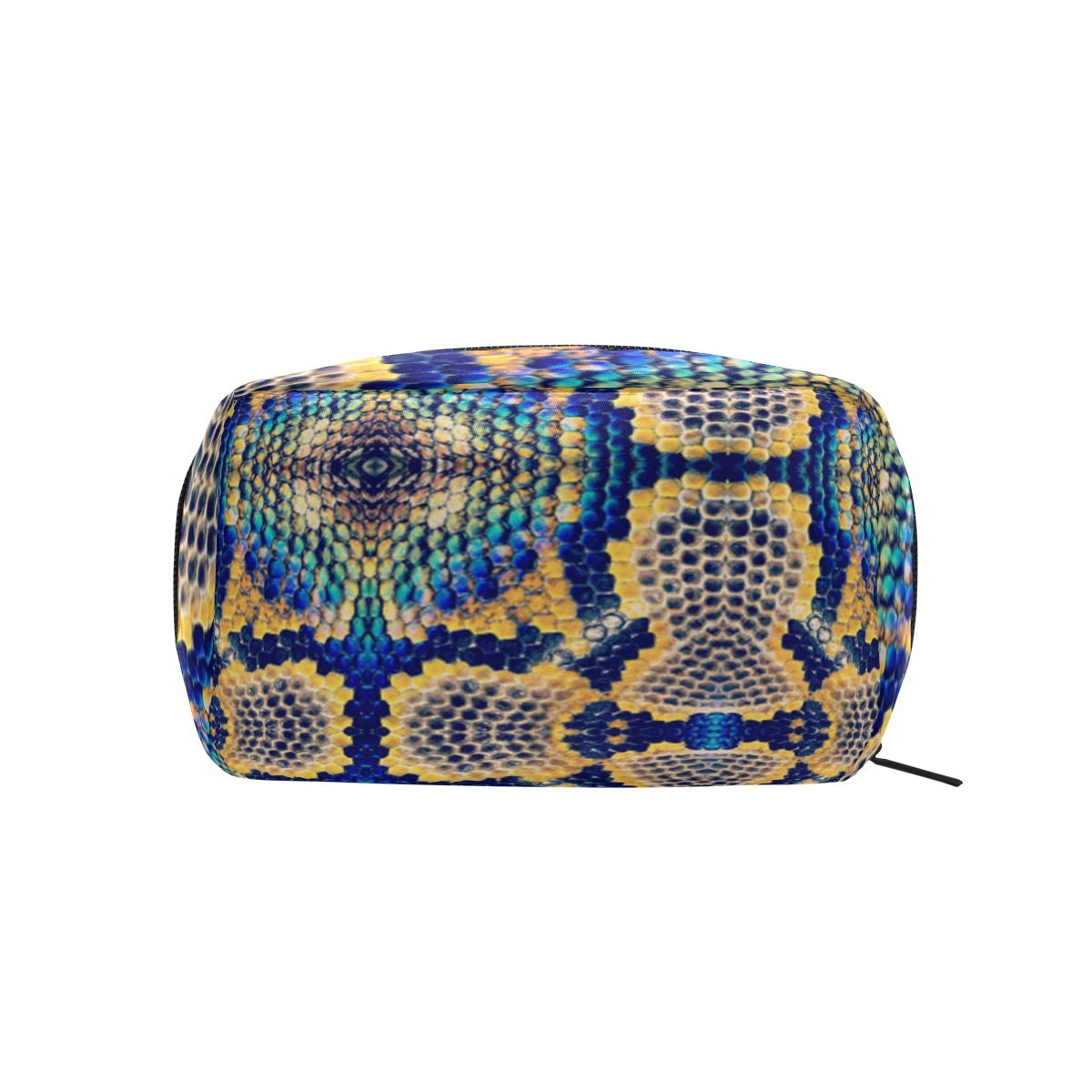 Colorful Snake Skin Camo Womens Makeup Pouch Cosmetic Toiletry Storage Bag Square Coin Purse