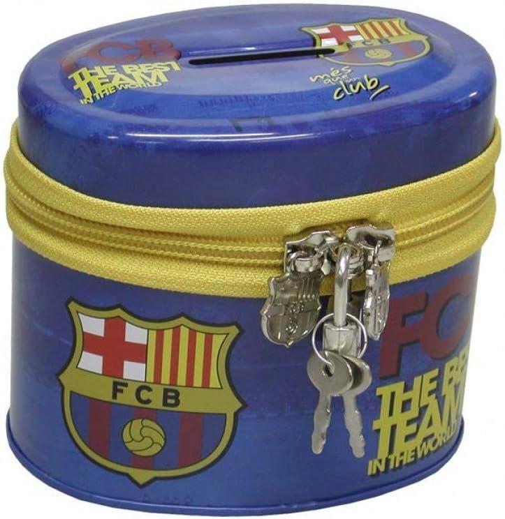 Hucha Oval Metal Con Cremallera Fc Barcelona 96//6