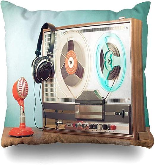 Funda de Almohada de Sonido Sound Green Old Retro Reel Grabadora ...