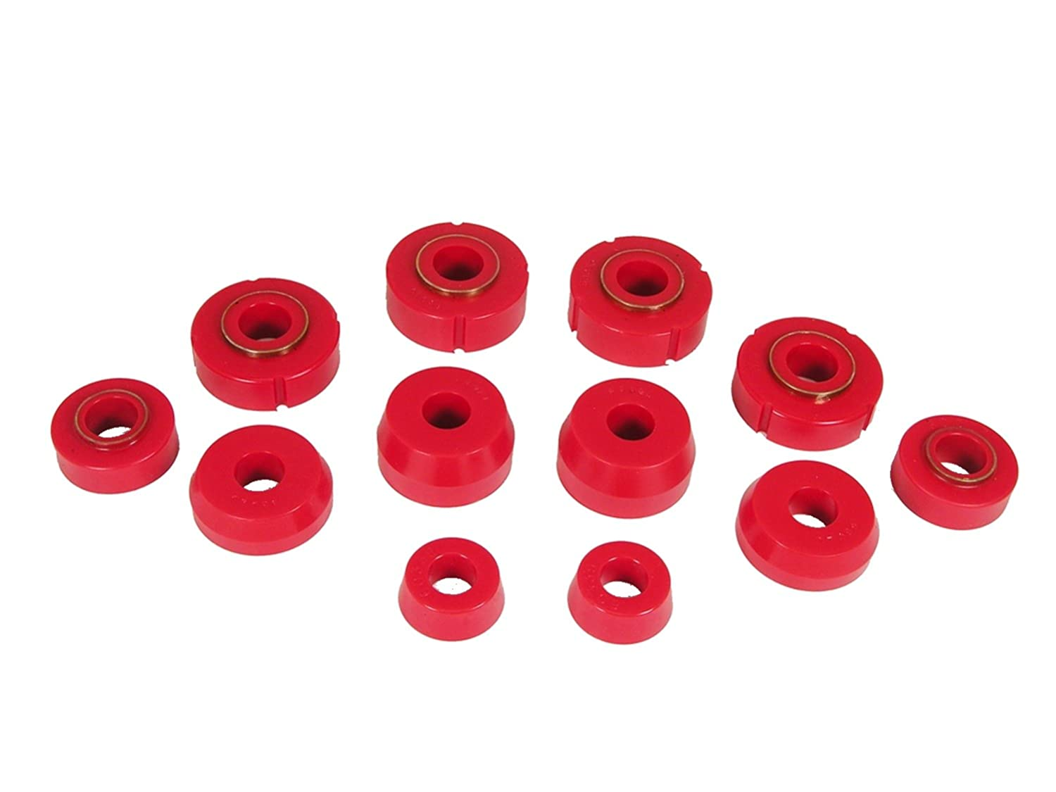 Prothane 6-110 Red Body and Cab Mount Bushing Kit - 12 Piece