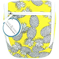 Sage & Emily Women's Hanging Bath and Body Organizer Travel Tote, Pineapple, One Size