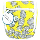 Sage & Emily Women's Hanging Bath and Body Organizer, Pineapple Travel Tote, One Size