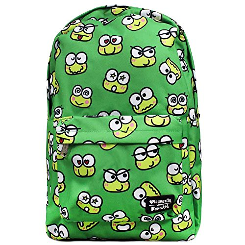 Loungefly x Sanrio Keroppi Face AOP Backpack
