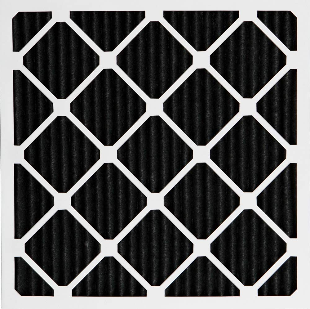 Nordic Pure 24x24x1 MERV 8 Pure Carbon Pleated Odor Reduction AC Furnace Air Filters 6 Pack