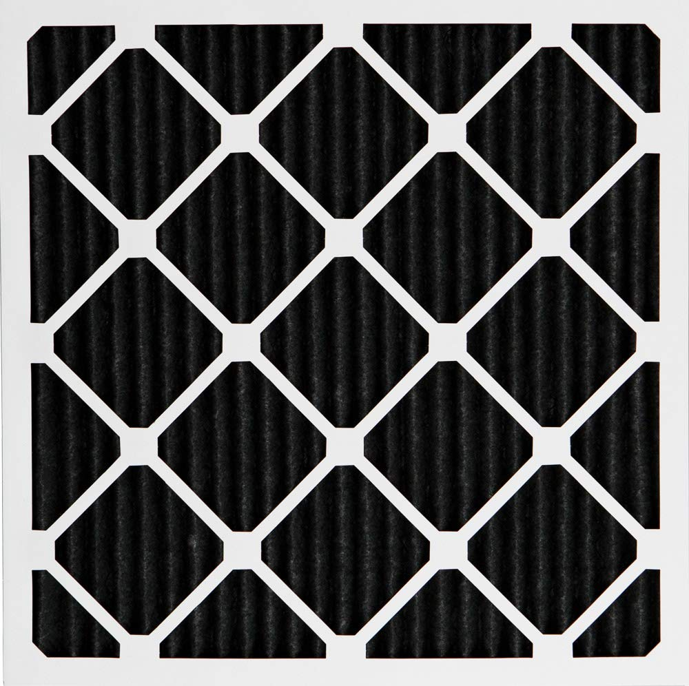 Nordic Pure 16x16x1 MERV 8 Pure Carbon Pleated Odor Reduction AC Furnace Air Filters 6 Pack