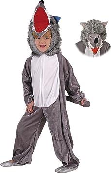 Disfraz de lobo mono de terciopelo en 3 tamaños: Amazon.es ...