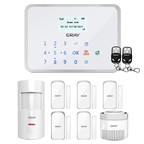 Security Alarm Gsm Alarm System With Smoke Sensor 5pir Detector 10 Door Contact 5 Remote Controller Alarm Host