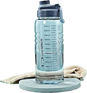 enioysun Outdoor Portable Portable Water Bottle 2.6L Leak-Proof Sports Plastic Water Cup Large Capacity Cup Mobile Holder Gallon Water Bottles BPA Free Outdoor Jugs Suitable for Fitness, Home