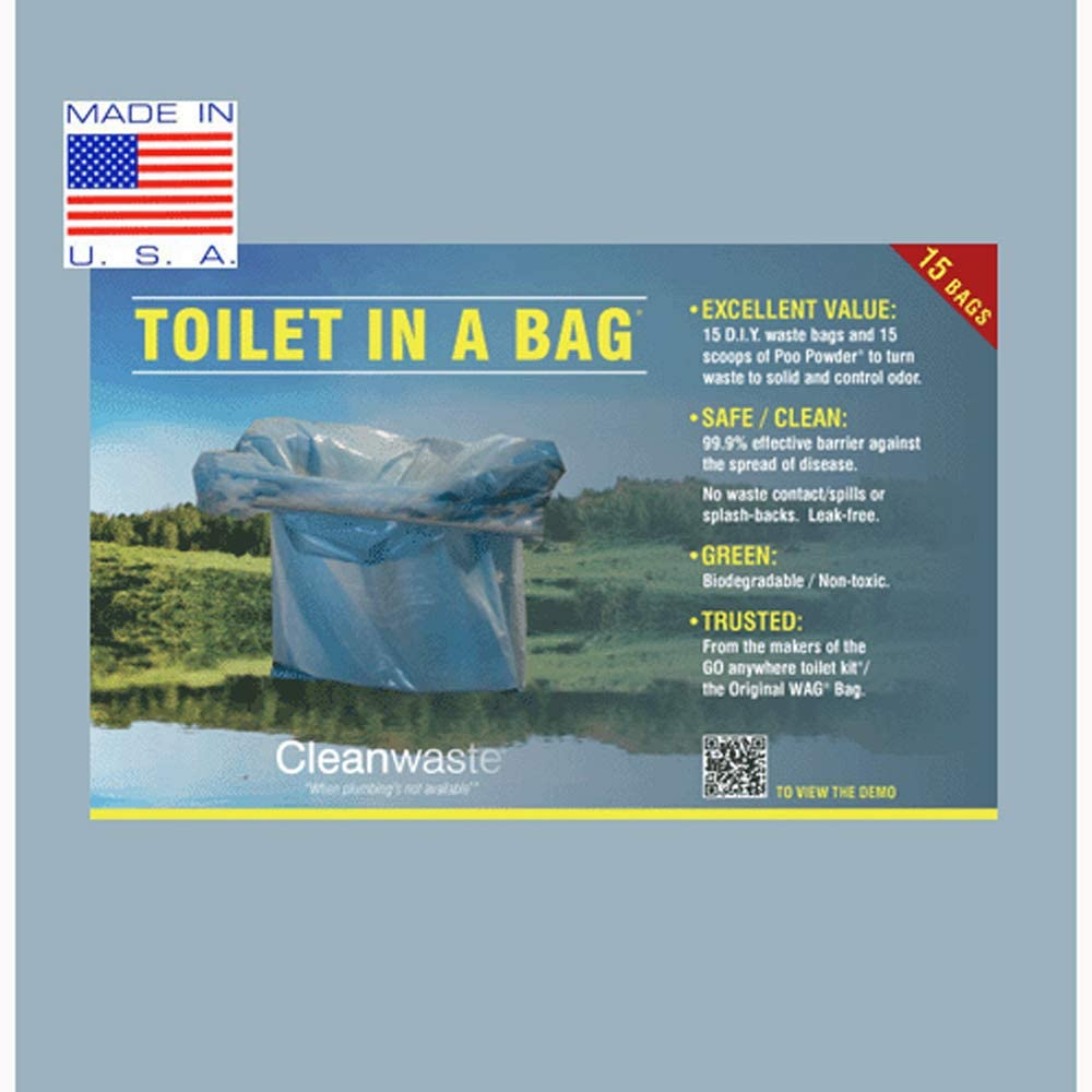 Cleanwaste Toilet in a Bag DIY Kit 15 pack