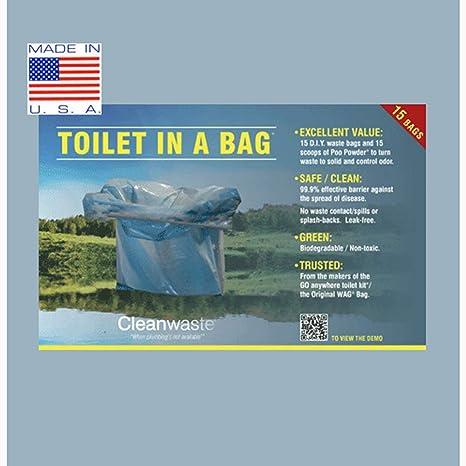 Amazon.com: Cleanwaste higiénico en una bolsa – 30 unidades ...