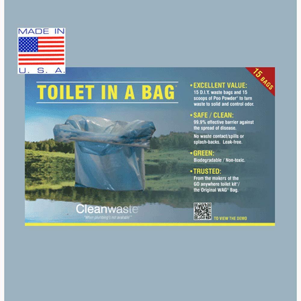 Cleanwaste Toilet in a Bag-15/Pack (D415W15)