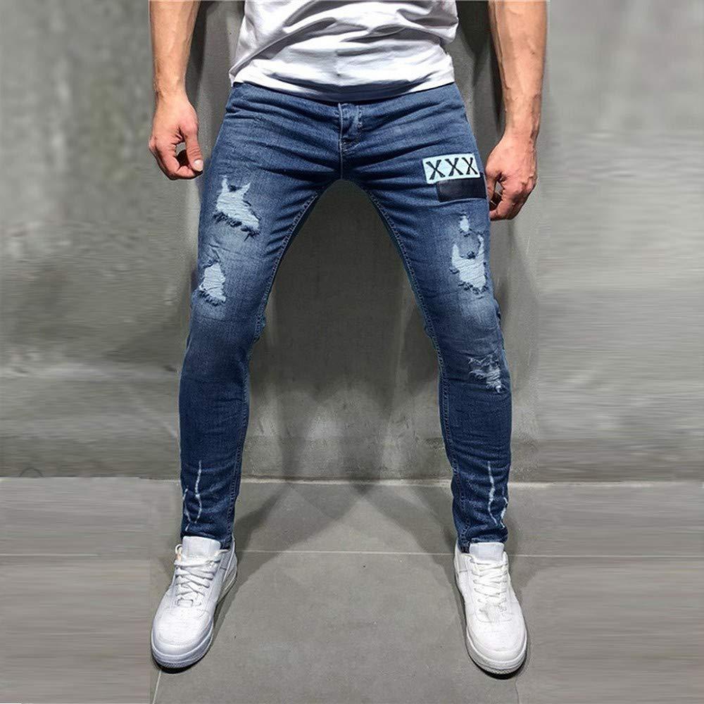 Hombre Vaqueros Hombres Rotos Pitillo Jeans Originales Skinny Denim Pantalon Ajustados Jeans Pantalones De Mezclilla Slim Hole Para Hombre Moda Casual Vaqueros Ropa Aceautocare Net