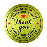 #3: Handmade with Love Especially for you Thank You Stickers 1.5