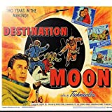 Rikki Knight RK-12intilec-3705 12'' X 12'' Vintage Movie Posters Art Destination Moon 2 Design Ceramic Art Tile