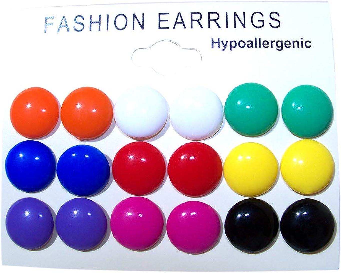Novelty Pink Disc Themed Plastic Stud Earrings Pierced Ears Brand NEW