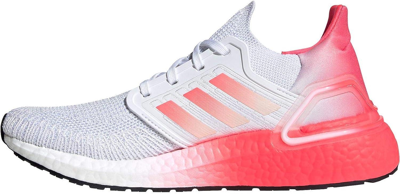ADIDAS Ultraboost 20 Zapatilla para Correr en Carretera o Camino de Tierra Ligero con Soporte Neutral para Mujer Blanco Rosa: Amazon.es: Zapatos y complementos