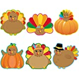 Turkey Cutouts 42 Pcs Thanksgiving Cut-Outs Accents for Fall Party Classroom Decoration