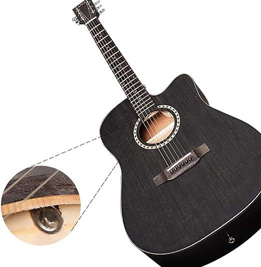YJFENG-Guitarra Acustica,Rendimiento Profesional Abeto Natural ...