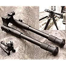 X-Aegis 2 in 1 Rail Mount Adapter and Riflebipods Adjustable Spring Hunting Rifle Bipod Stand Metal Mount