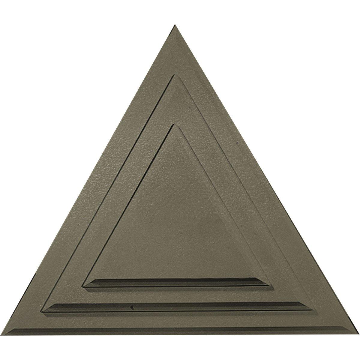 Ekena Millwork CM19TGSSF Triangle Ceiling Medallion, Spartan Stone