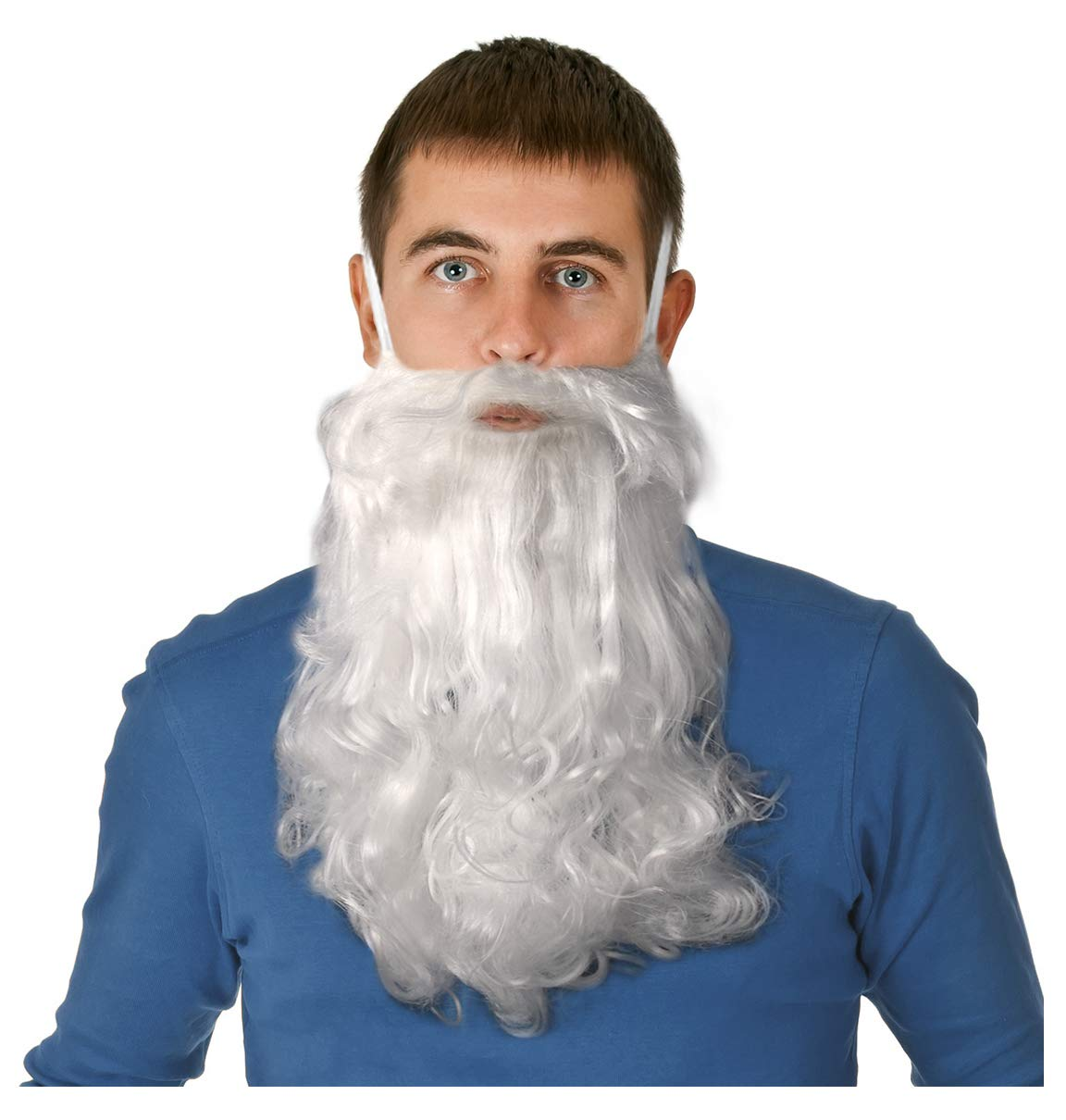Long White Beard Dwarf Beard Gnome Beard Costume Wizard Beard for Adults or Kids