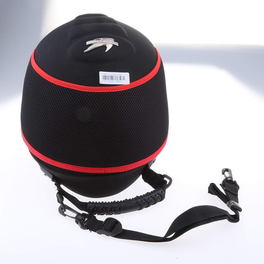 B Blesiya 1 psc Bolso de Casco de Equipaje de Motocicleta de Hombro AJustable L/íneas blancas