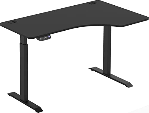 SHW 55-Inch Large Electric Height Adjustable Computer L-Shaped Desk