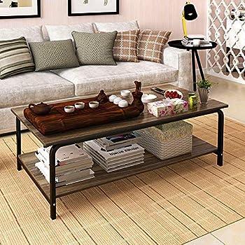 Amazon.com: Giantex Accent Mesa de café sala de estar ...