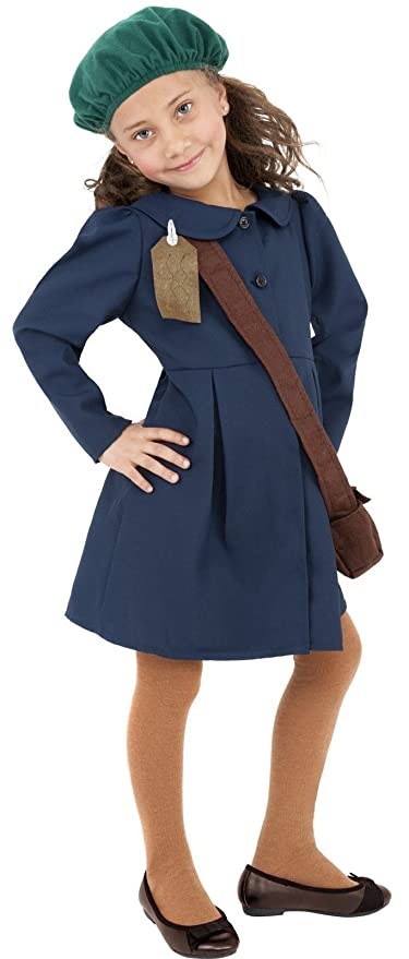 1940s Children's Clothing: Girls, Boys, Baby, Toddler 1940s World War 2 II WW2 Evacuee Wartime Fancy Dress Costume Age 7-9 $29.12 AT vintagedancer.com