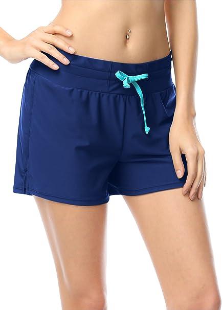 design de qualité b545a 6bd37 OUO Femmes Shorts de Bain Board Shorts