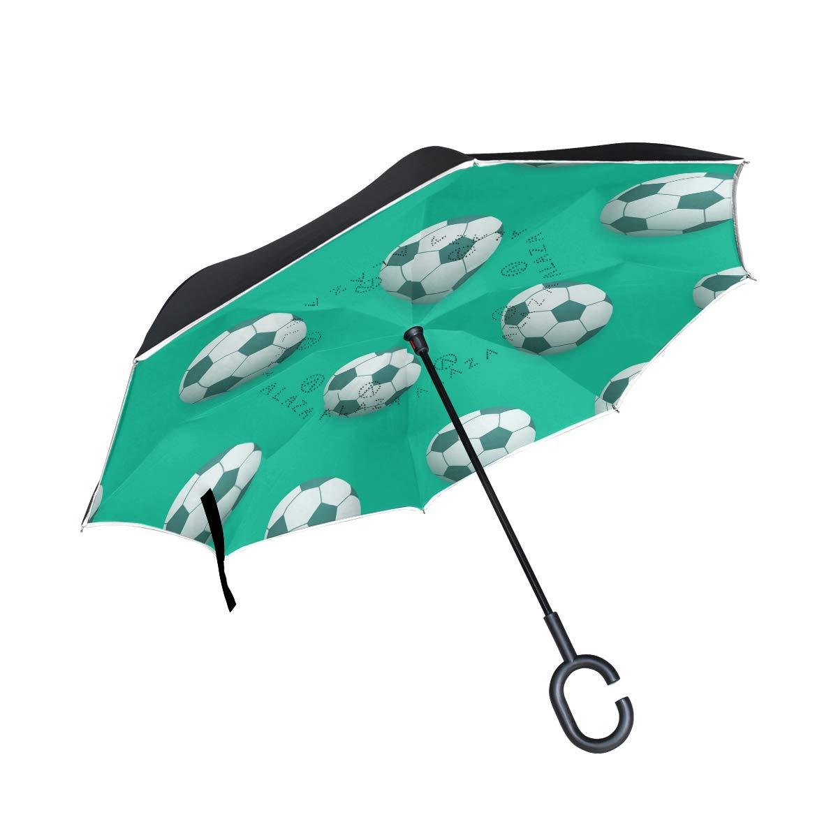 SKYDA Paraguas invertido de Doble Capa, Paraguas Plegable para ...
