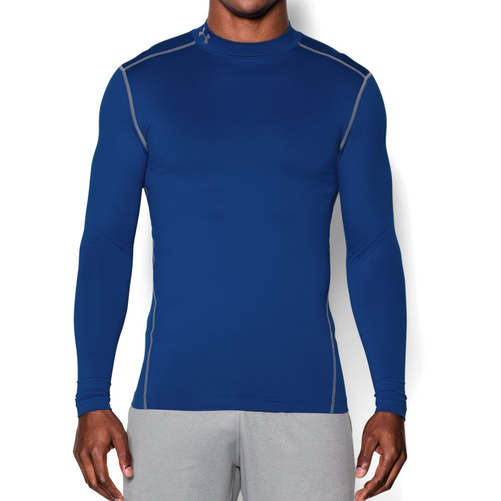 Under Armour Men's ColdGear Armour Compression Mock Long Sleeve Shirt, Royal /Steel, XXX-Large by Under Armour (Image #1)