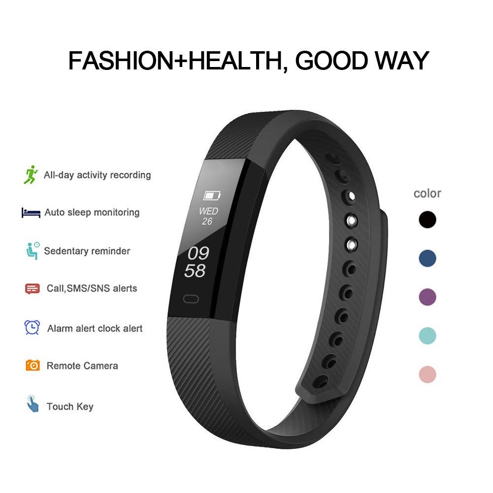LETSCOM Fitness Tracker Reloj con Slim Pantalla táctil y Pulseras, Pulsera de Actividad Tracker como podómetro Monitor de sueño para Android y iOS, ...