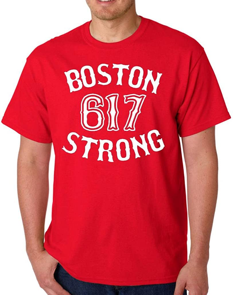 Boston Strong 617 State Adult T-Shirt Tee
