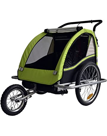 Remolque de bici para niños con kit de footing, color: LEMON / negro -