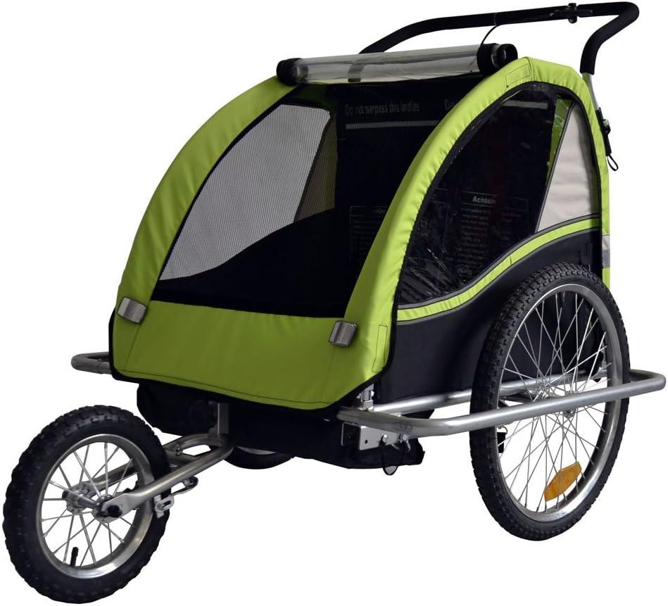 Remolque de bici para niños con kit de footing, color: LEMON / negro - 602-02: Amazon.es: Bebé
