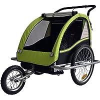 Remolque de bici para niños con kit de footing, color: LEMON / negro - 602-02
