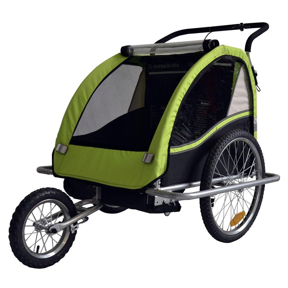 Remolque de bici para niños con kit de footing, color: LEMON / negro - 602-02 TIGGO