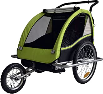 Remolque de bici para niños con kit de footing, color: LEMON / negro - 602-02: Amazon.es: Bebé