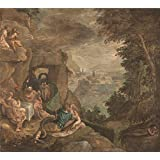 Canvas Prints Of Oil Painting ' Paolo Fiammingo Landscape With A Scene Of Enchantment ' , 8 x 9 inch / 20 x 23 cm , Polyster Canvas Is For Gifts And Hallway, Home Office And Laundry Room Decoration